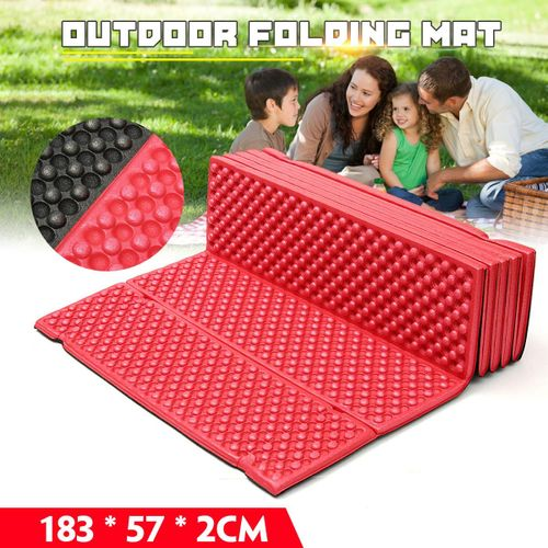 183 * 57 2cm Outdoor Folding Mat Picnic Pad Water Red (red)