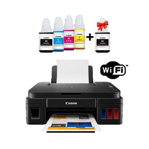 Imprimante Multifonction WiFi PIXMA G3411 Jet d'encre, Jeu de bouteilles inclus + BK TWIN PACK Remplace G3400 Et G3410