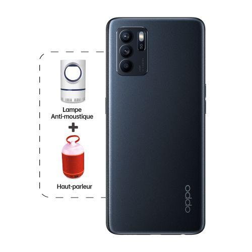 """Reno6 Z 5G 6.4"""" 5G (8Go, 128Go) 64MP+8MP+2MP/32MP Android - Noir + Haut-parleur + Lampe Anti-Moustique"""