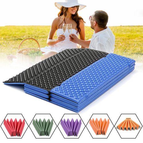 183 * 57 2cm Outdoor Folding Mat Picnic Pad Waterproof Blue