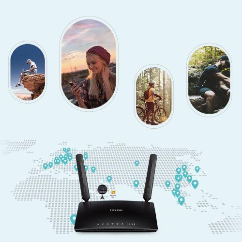TP-Link Routeur 4G LTE Wi-Fi AC 750Mbps - idéal pour remplacer une connexion ADSL à très faible débit (Archer MR200)