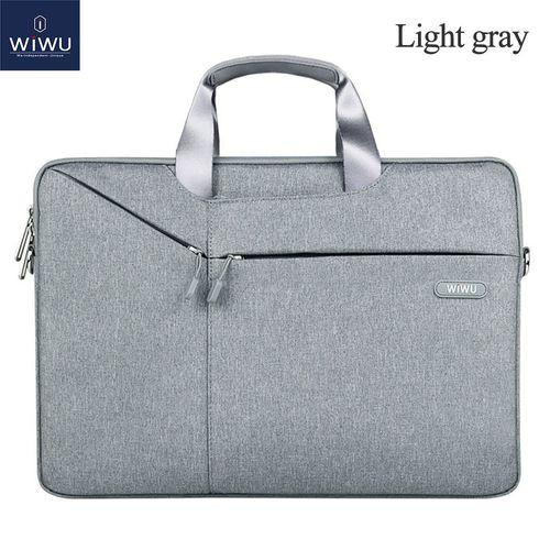 Laptop Bag Case 17.3 15.6 15.4 14.1 13.3 Messenger Bags for MacBook Air 13 Case Waterproof Notebook Bag for MacBook Pro 15(Light Gray)(fukela)