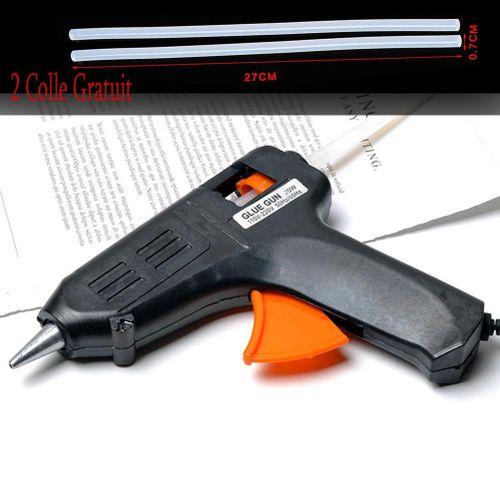 Mini Pistolet à Colle Thermofusible Cartouche Colle Glu 20W + 2 colle gratuit