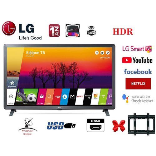 "Smart LED Full HD TV 32"" Recepteur integré + USB + HDMI + HDR - 32LM630+ Support Mural"