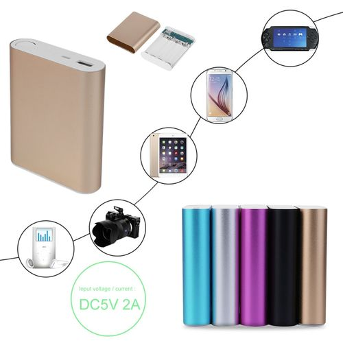 10400mAh USB External Backup Battery Charger 4*18650 Power Bank Case