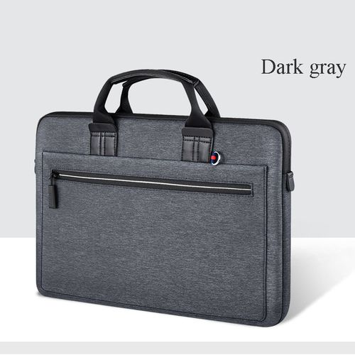 Laptop Bag Case for MacBook Air 13 Case Pro 13 15 Women Men Pouch Notebook Bag 14 inch Nylon Waterproof Laptop Bag 15.6(Dark Grey)(fukela)