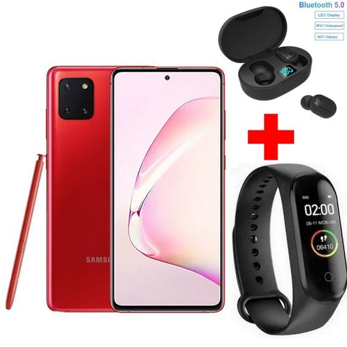 """Galaxy Note 10 Lite - 128Go - 8Go - Android - 6.7""""- Rouge +Band + Kit"""