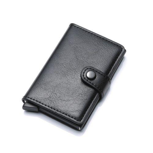 Portefeuille Miniwallet anti détournement de données des cartes RFID et NFC noir