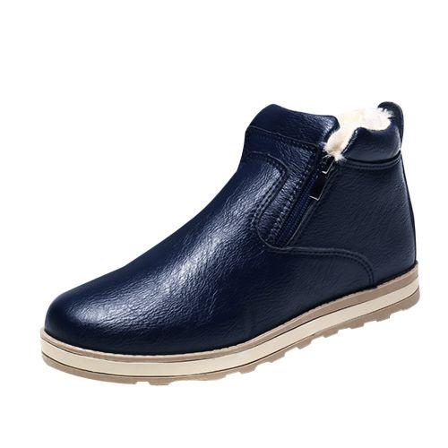 Fashion (Xiuxingzi) Men Winter Warm Boots Casual Shoes Fashion Plush Snow Boots BU/39