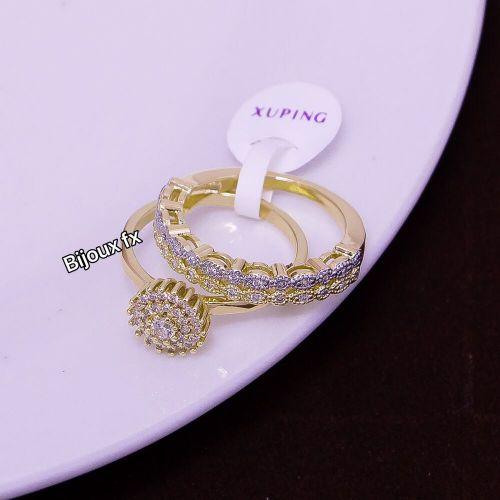 Bague de Mariage En Plaqué Or incrusté de Diamants Anneau Femmes 2020