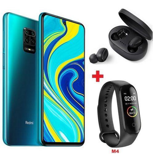"""Redmi Note 9 - 6.53"""" - 4Go - 128Go - 48MP - 5020mAh - Vert + Band + Écouteur"""