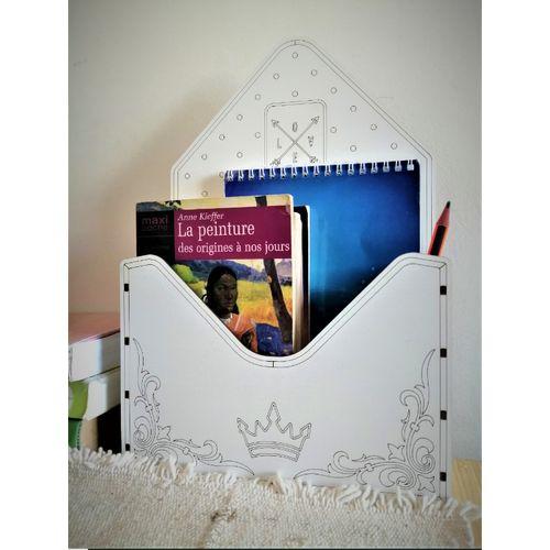 Boite Organisateur sous forme d'Enveloppe en Bois - Boite Cadeau Créative -