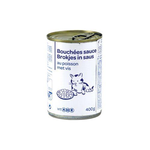 CARREFOUR BLANC Pâtée Bouchées Sauce Poisson 400G