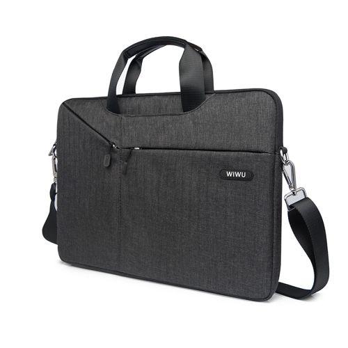 Laptop Messenger Bag 13.3 14.1 15.4 15.6 17.3 Waterproof Nylon Notebook Bag for Dell 14 Laptop Case for Macbook Pro 13 Case(Gray)(fukela)