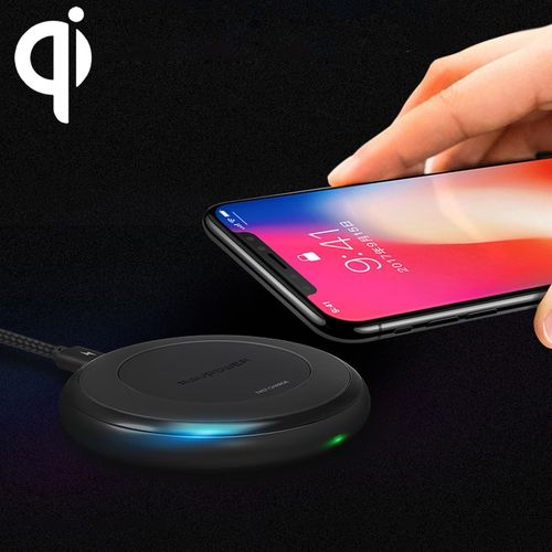 ANKER RAVPOWER RP-PC034 7.5W Fast Wireless Charger + QC 3.0 Adapter for iPhone X / 8 Plus / 8 / Galaxy Note 8 / S7 and All QI Enable Devices(Black)