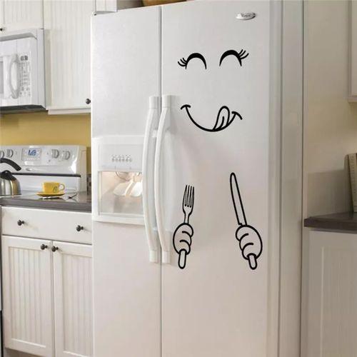 Sticker Frigo Emoji Délicieux Autocollant Réfrigérateur Décoration Cuisine
