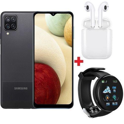 """Galaxy A12 6.5"""" (128Go, 4Go) 48MP+5MP+2MP/8MP Android 10 - Noir+ Band + Ècouteur"""