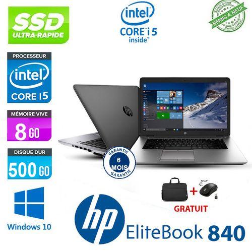 PC PORTABLE HP ELITEBOOK 840 CORE I5 + SOURIS GRATUIT-CARTABLE - Remise à neuf