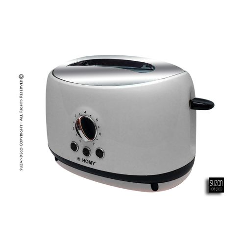 Homy Toaster, Grille-pain 2 tranches Multifonctions Cool Touch