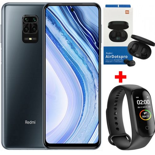 Redmi Note 9S - 6.67''- 4K - (6GB - 128GB)48 Mpx - Android 10.0 - Gris+Band + Kit