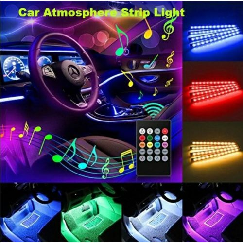 musique étanche led lumières pour voitures Flexible Bande Auto Musique Décoratif