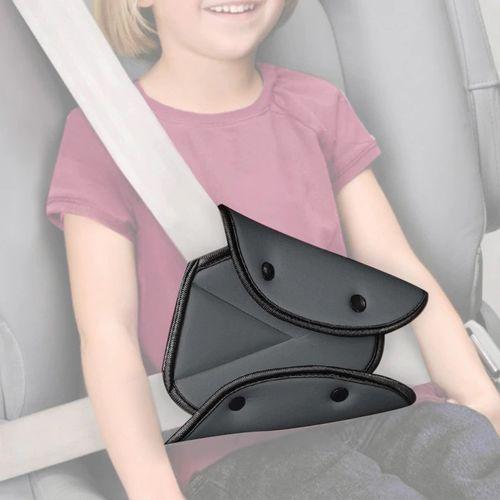 Siège de voiture Couvercle de ceinture de sécurité Stable Triangle réglable Ceinture de sécurité Ceinture Ceinture clips de protection bébé Protection de la voiture Car Styling Car Goods NOIR