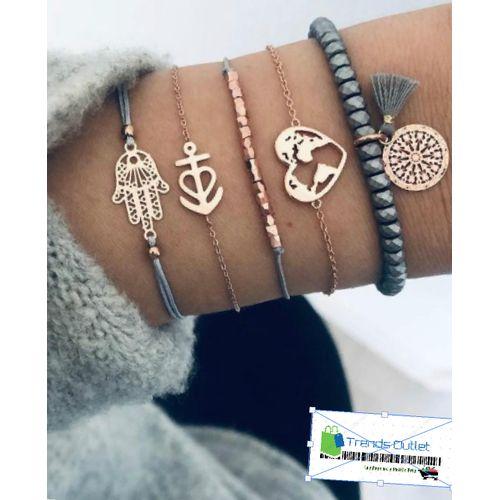 Montre ensemble 6 pièces Montre-Bracelet De Luxe Dames