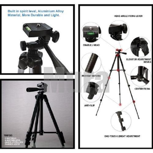Tripied Trepied Support Pour telephone d'appareil Photo Camera, Léger, Portatif