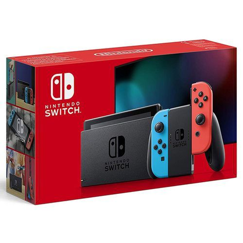 Switch with Joy-Con Pair Neon Red & Blue MULT