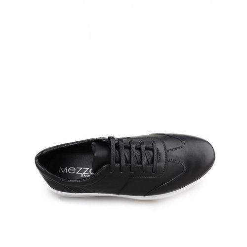 Mezzo Baskets Mezzo en cuir véritable - Noir