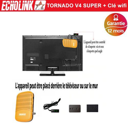 Echolink Tornado V4 Super + Clé wifi antenne,FullHD,2USB,Multistream,H.265