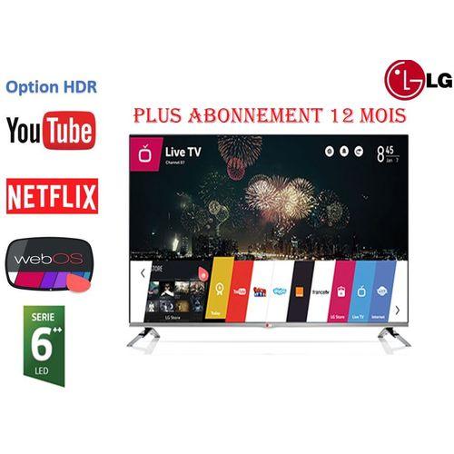 """32"""" Smart TV WEBOS Série 6 +HDR+Récepteur +TNT +Abonnement service 12 mois"""