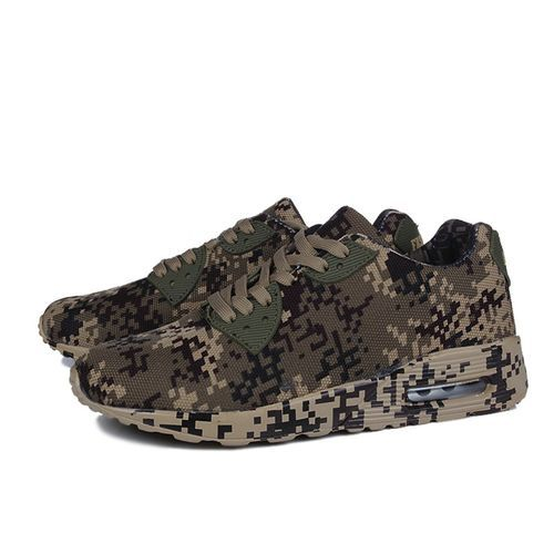 Fashion Featured Men's Fashion Camouflage Pattern Walking Shoes Flat Heel Sport Shoes