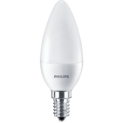 Philips Lot de 12 Lampes Ledcandle E14 lumière blanc chaud 6,5w équivalents 55w