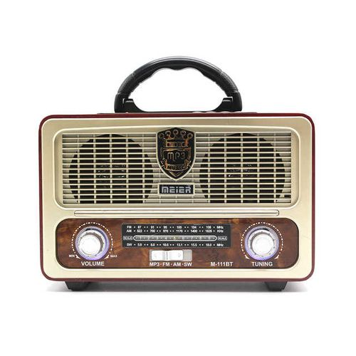 Meier Radio Bluetooth portable M-111BT (batterie, FM; USB; microSD)