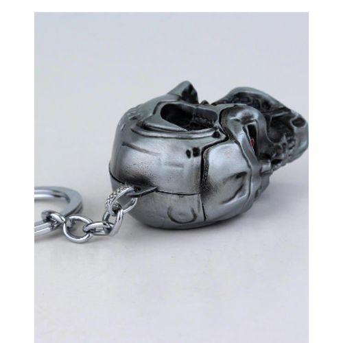 Porte-clés Terminator cool 3D tête de crâne forme métal - Porte-clés Cadeau Anniversaire
