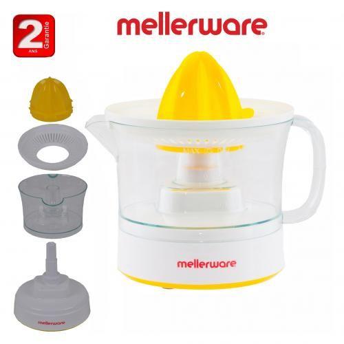 Mellerware Presse Orange MELLERWARE, 0,5L double sens de rotation, sélecteur de pulpe-2ans de garantie