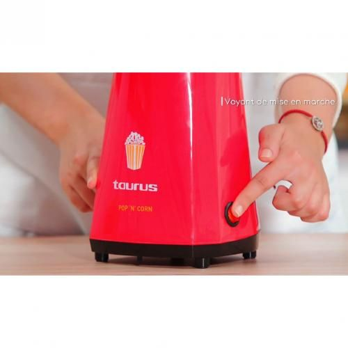 Taurus Appareil à Pop-corn 1100W - Rouge Ferrari 2ans de garantie