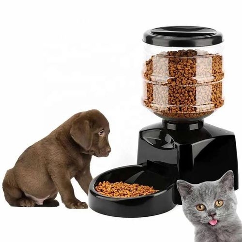 Distributeur de croquettes automatique pour chien et chat avec enregistrement vocal