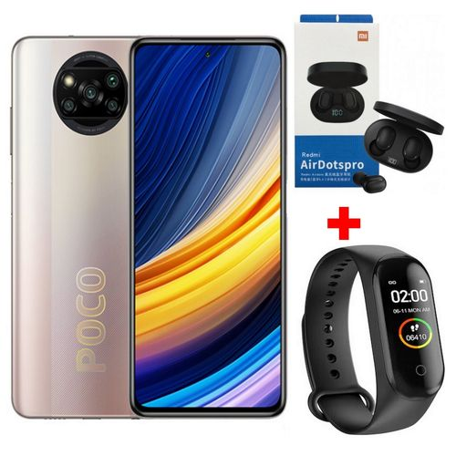 Mi POCO X3 PRO - 6.67 ' FHD + 8 Go RAM - 256 Go - Snapdragon 860G - 64 MP- Bronze +Kit+Band