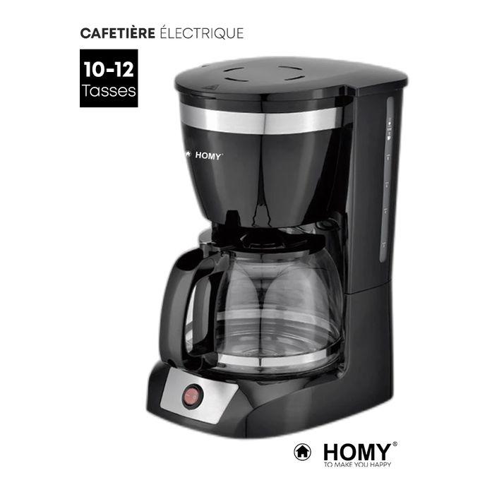 Cafetière Electrique Express Avec Filtre Permanent 10 12 Tasses