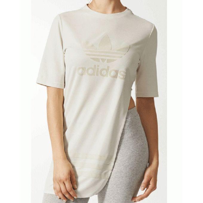 t shirt adidas blanc femme