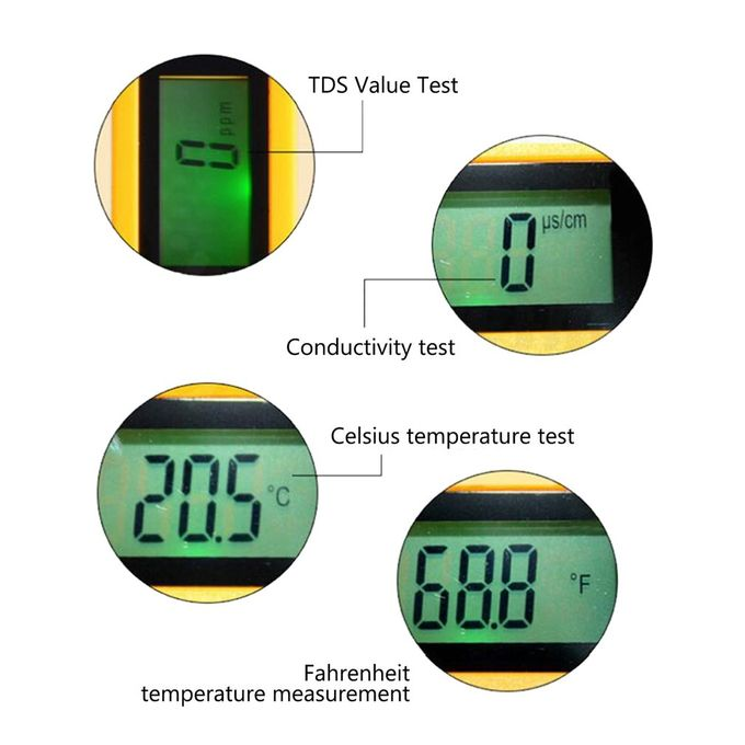 Vl Tds Water Quality Test Pen Ec With Green Backlight Measuring Instrument White