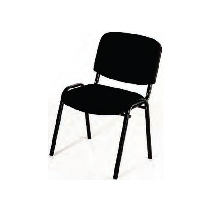 Chaise De Bureau Iso En Tissus Noir