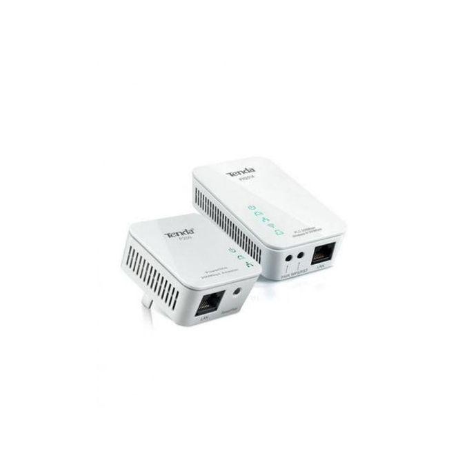 Kit Mini Adaptateur Cpl P200 Blanc Powerline Extender Wifi N300 Pw201a Blanc