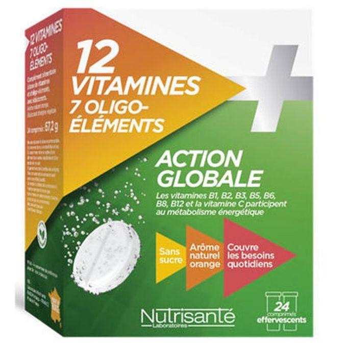 12 Vitamines 7 Oligo Elements 24 Comprimés