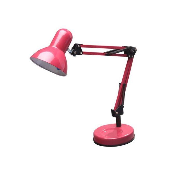 Lampe De Bureau Ennis Culot E27 40w Haut 54cm Rose Fuchsia Garantie 2 Ans