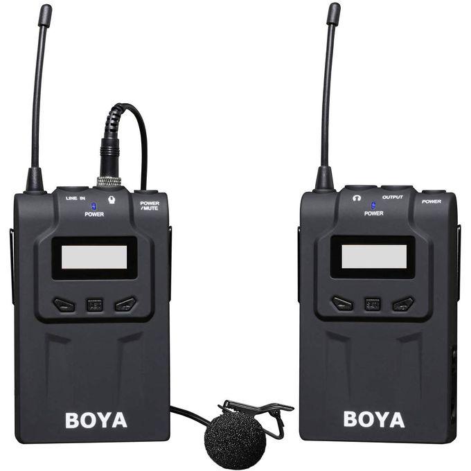 Système De Microphone Cravate Sans Fil Boya By Um48c Uhf Professional
