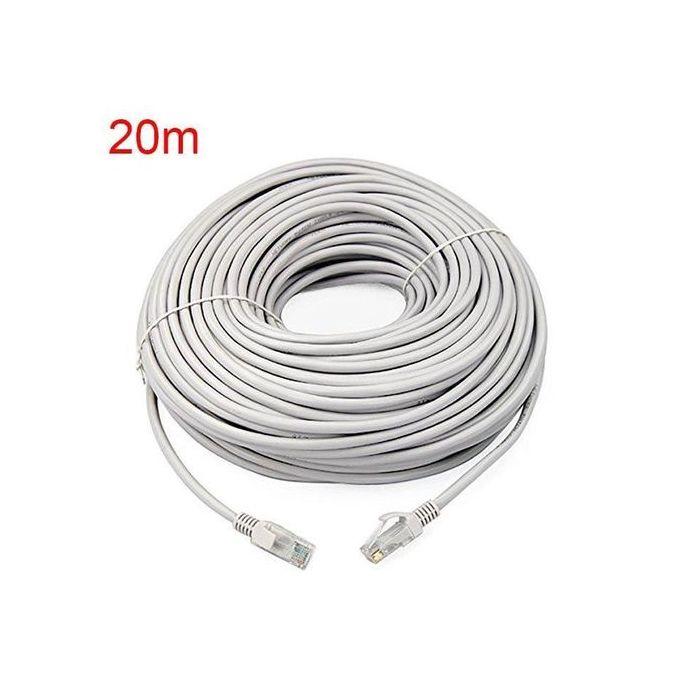 Cordon De Brassage 20m Cat 6 Câble Réseau Ethernet Rj45 20m Cat 6e