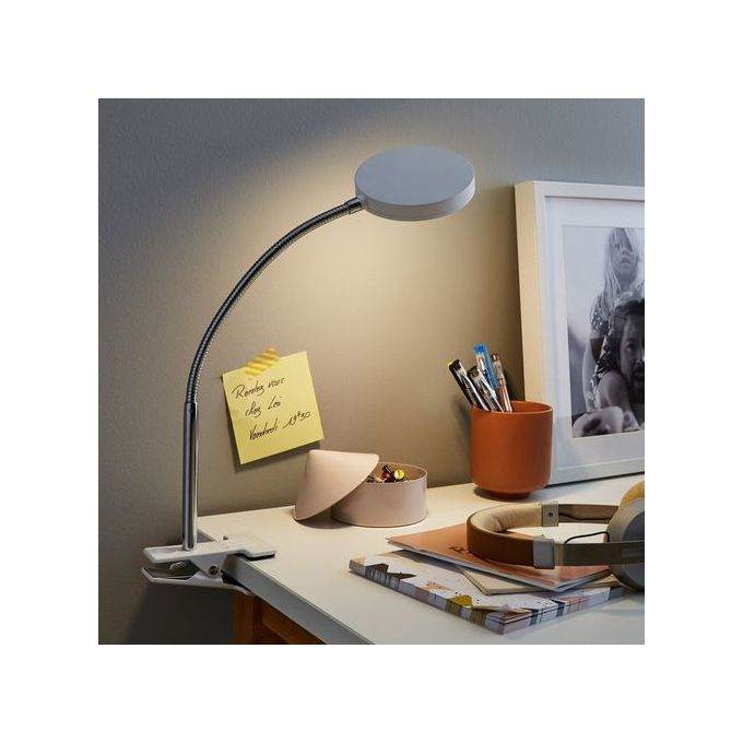 Lampe De Bureau à Pince Articulée Haut 30cm Ampoule Led 25w Incluse Chevet économie Dénergie
